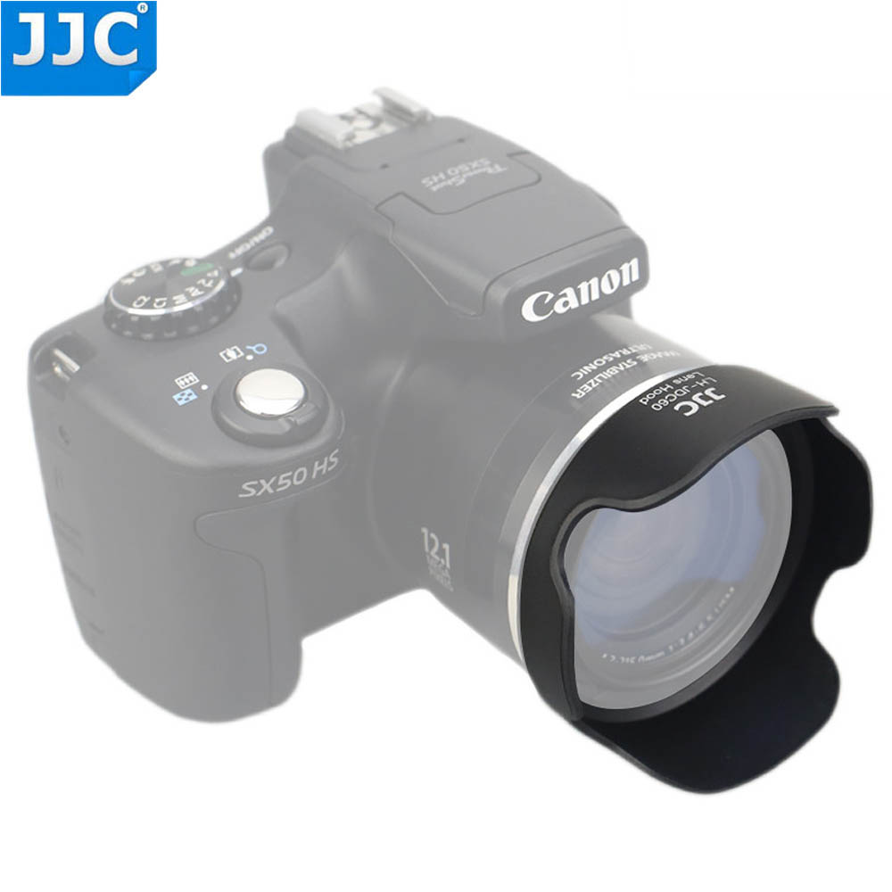 JJC Bayonet Camera Lens Hood for <font><b>CANON</b></font> <font><b>PowerShot</b></font> SX1 <font><b>IS</b></font>/SX10 <font><b>IS</b></font>/<font><b>SX20</b></font> <font><b>IS</b></font>/SX30 <font><b>IS</b></font>/SX40 <font><b>IS</b></font>/SX50 HS Replaces LH-DC60 image
