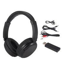 Drahtlose Kopfhörer Musik Kopfhörer Empfänger AUX Sender 3,5mm & RCA Verdrahtete Headset w/ Mic Unterstützung FM Radio Für TV PC Handys