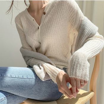 Ailegogo 2020 Autumn Winter Women's V-Neck Sexy Knitwear Stylish Knitted Button Cardigans Korean Lady Sweaters SWC2205 1
