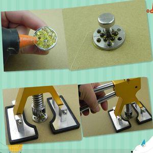 Image 2 - Onglets dextraction de colle en aluminium pour voiture, Kit doutils de débosselage sans peinture, 8 tailles avec 8 pièces