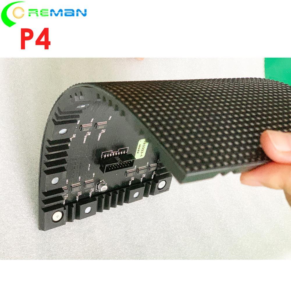 Aliexpress Good Price Soft Led Module Led Matrix P4 32x64 128mm X 256mm  , Indoor Round Soft Led Video Wall P3 P4 Module