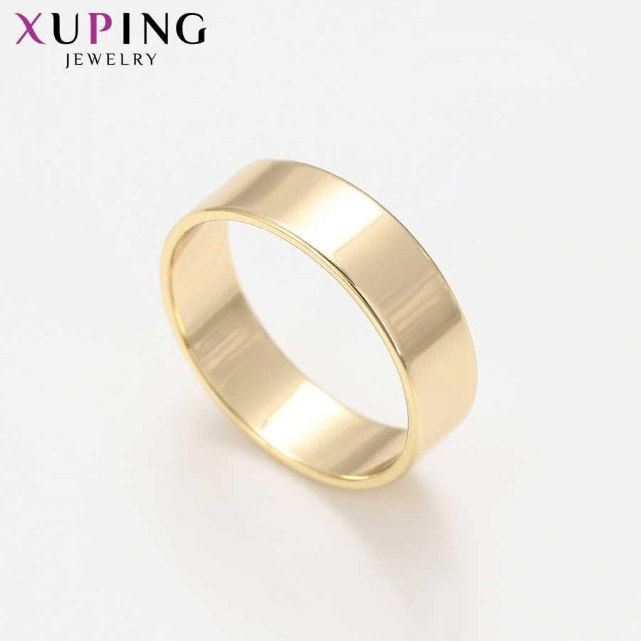 Xuping Luxus Ring Beliebte Charme Stil für Frau Licht Gelb Gold Farbe Überzog Ring Schmuck Christma Bunte Geschenk S211.5-16299