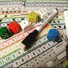Mais novo jogo de cartas de tabuleiro jogo qwixx jogos de festa