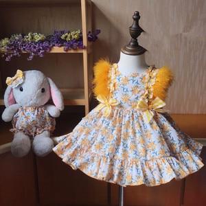 Детское платье с цветочным пером для девочек, детские Бальные платья для малышей, вечерние платья для дня рождения, эксклюзивные платья