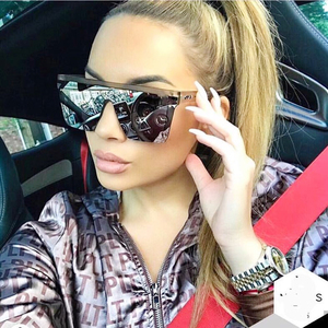Sun Glasses Women Oversized Su