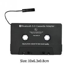 Преобразования Автомобиля отвечать на телефонные кассета адаптер аудио зарядка через usb Bluetooth практичный
