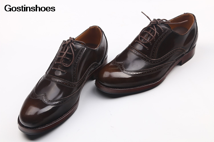 Shoes Male Handmade Cowhide Round-toe Retro Rub Color Calfskin Sole Customize Wedding Dress Derby Shoes Genuine Leather Lace-up
