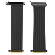 سرعة كاملة 3.0 PCIE X16 الناهض كابل بطاقة جرافيكس تمديد كابل PCI اكسبرس الناهض محمية موسع لوحدة معالجة الرسومات العمودي