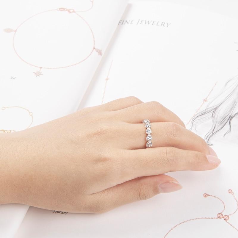 925 bague de fiançailles en argent Sterling pour mariage, bague en argent pour femmes, bague de mariée, bijoux - 5