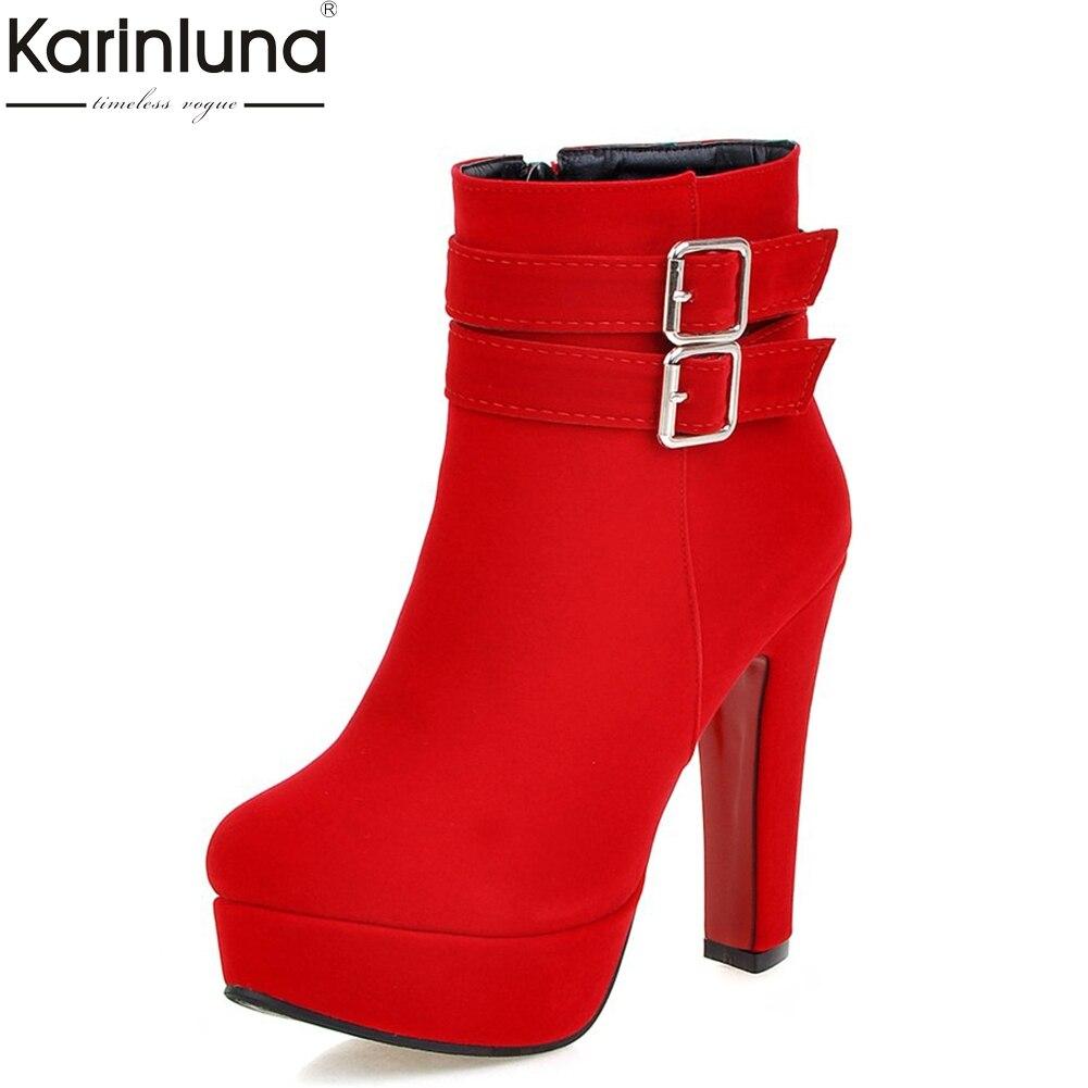 Female Boots Women's Shoes Platform Winter High-Heels Plush Sexy Fashion Woman Ankle