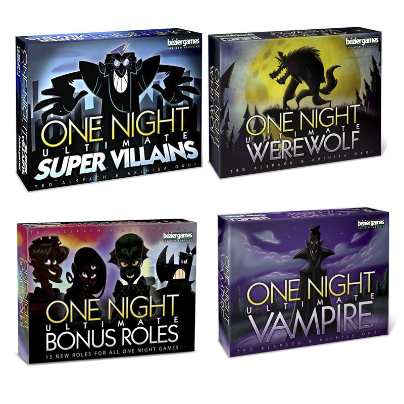 English Version Cards Game One Night Ultimate Werewolf Alien Board Games Werewolves Educational Toy
