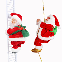 Creative Electric Climbing Ladder Santa Claus Christmas Decor for Home New Year 2021