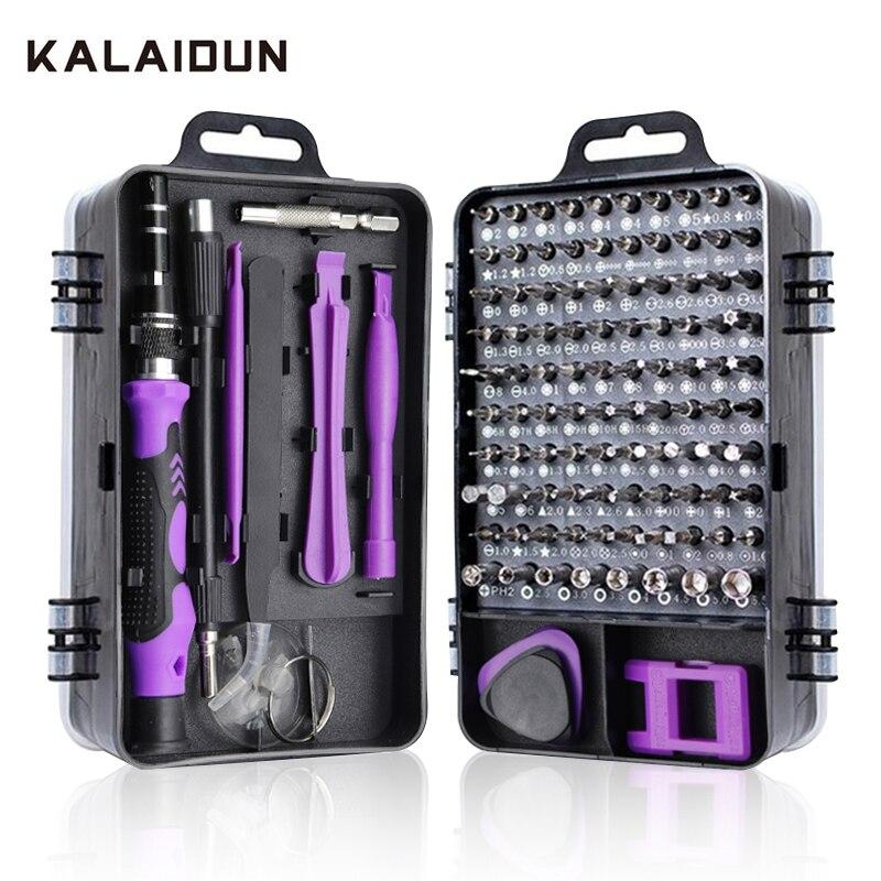 KALAIDUN Precision Screwdriver Set 115 In 1 Screw Driver Bit Magnetic Torx Bits Screwdrivers Handle Phone Repair Hand Tools Kit(China)