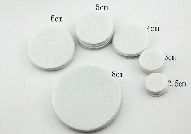 300pcs/pack Round Non-woven Felt Patch For DIY Flower Handmade White Circles Flower Felt Pads DIY Hair Accessories