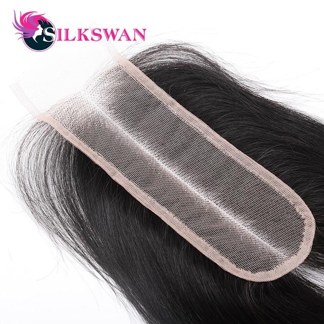 Pelo de seda 2*6 Kim K Cierre de encaje suizo transparente cierre 100% cabello humano Remy 10-26 pulgadas pelo lacio brasileño