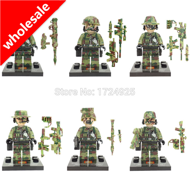 Venta al por mayor 60 unids/lote SWAT figura conjunto militar bloques de construcción conjuntos modelo ladrillos juguetes educativos niños No caja Original SY11101-in Bloques from Juguetes y pasatiempos    1