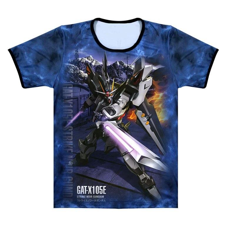 AliExpress Anime périphérique Gundam 00 assaut Gundam Ml26 Anime 3D T-shirt à manches courtes été