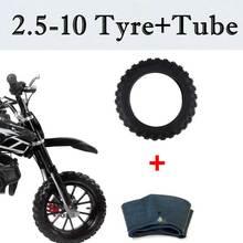 Резиновая шина и внутренняя трубка для мотоцикла 2,50-10 2,50x10, прямой воздушный клапан для Honda CRF50 XR50 для Yamaha PW50