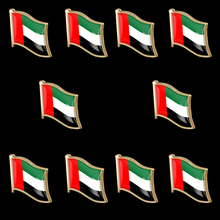 10PCS UAE Waving National Flag Lapel Badge Jewelry Pin Brooch Wear On Suits & Travel Bags