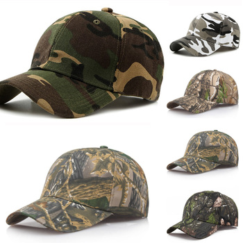 Camouflage Solid Baseball Cap Outdoor Sunscreen Quick-Drying Cap Jungle Leaves Camouflage Cap Unisex Camo Baseball Cap Wholesale image