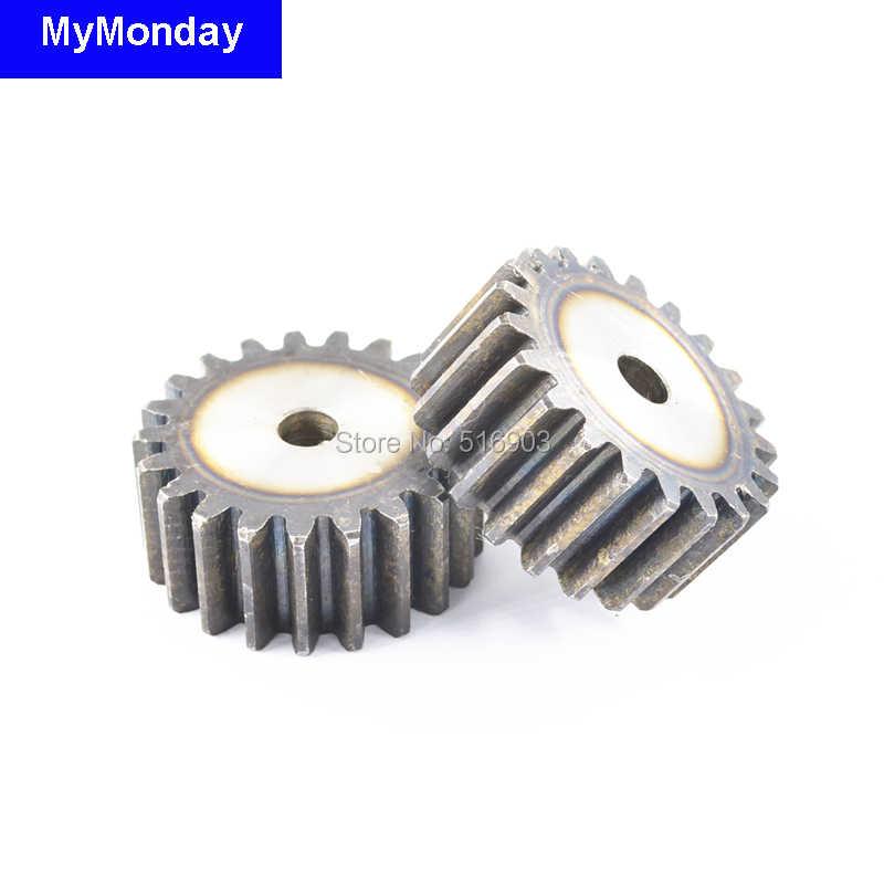 ترس بنيون رف بكرة 15-30T أسنان مستقيم أسنان Mod 1 م = 1 عرض 10 مللي متر 45 # فولاذ إيجابي منخفض الضوضاء سلس ماكينة بتحكم رقمي بالكمبيوتر