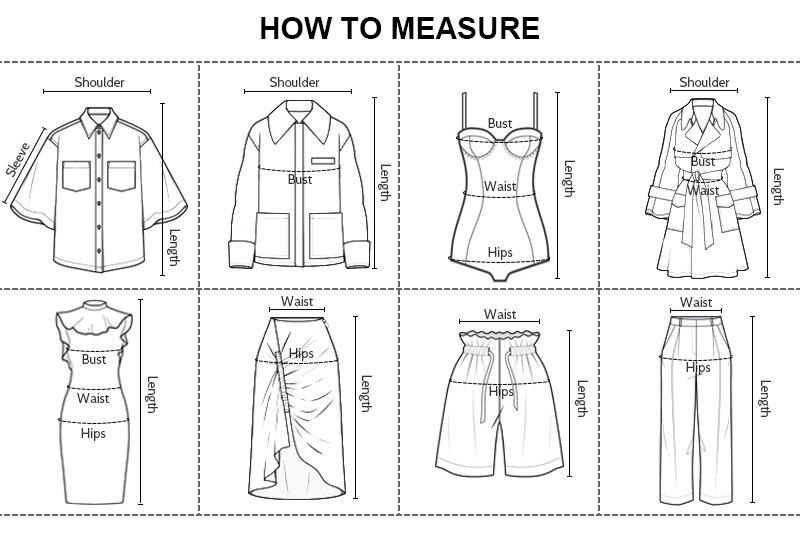 产品尺码对照表