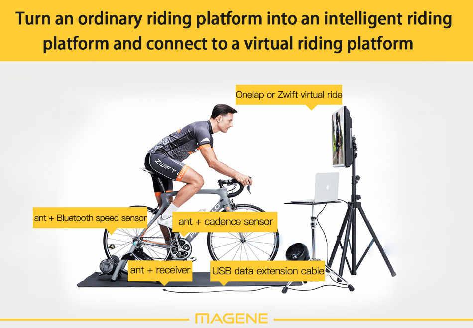 Magene usbトランスミッタレシーバ互換ガーミン自転車コンピュータサイクルデータアダプタ家庭用フィットネススティック速度ケイデンス