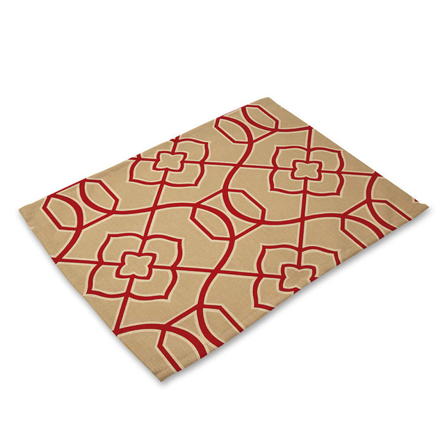 Table Ramie Insulation Pad Solid Placemats Linen Non Slip Table Mat Kitchen Accessories Decoration Home Pad Couster