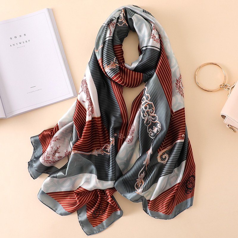 Brand Designer Silk Scarf For Women Fashion Print Shawls And Wraps Lady Travel Wram Blanket Scarves Hijab Femme Pashmina