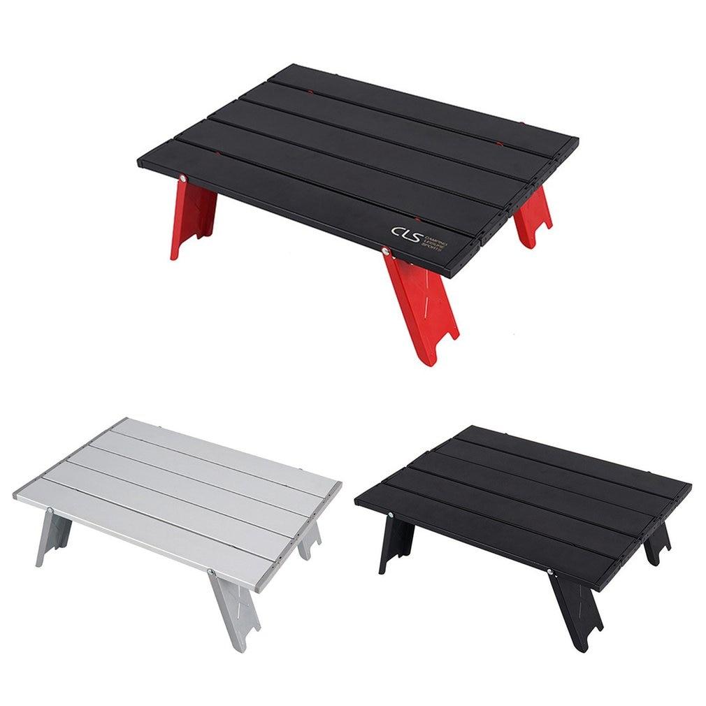Mini mesa dobrável ao ar livre churrasqueira barraca de acampamento do agregado familiar cama dobrável mesa do computador liga alumínio durável dobrável