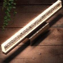 Lámpara de pared moderna, luces de tocador de acrílico, luz de espejo, accesorios de iluminación impermeables para baño, candelabro de pared, luces de pared, decoración artística