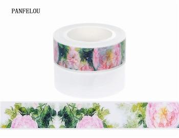 10M*10mm blossom peony Sticker Washi Masking tape Quality good price HOT sell  DIY Scrapbook Embellishments Decoration
