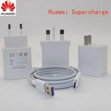 Huawei p20 supercharger original 5v 4.5a adaptador de carga de parede usb tipo c cabo de dados para honra 9 10 nota 10/p10 plus/mate 10 pro