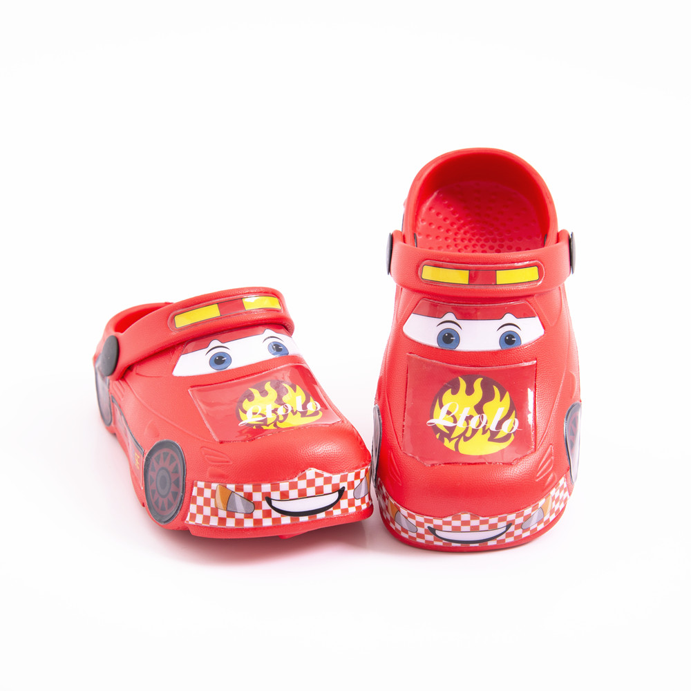 2021Kids Mules Children Clog Baby Boys Girls Toddlers Automobile Race Crock Car Sandals Slippers Shoes EU23 24 25 26 27 28 29 30