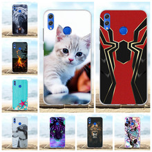 For Huawei Honor 8X Case Soft TPU Silicone For Huawei Honor View 10 Lite Cover Lion Patterned For Huawei Honor V10 Lite Funda цена 2017
