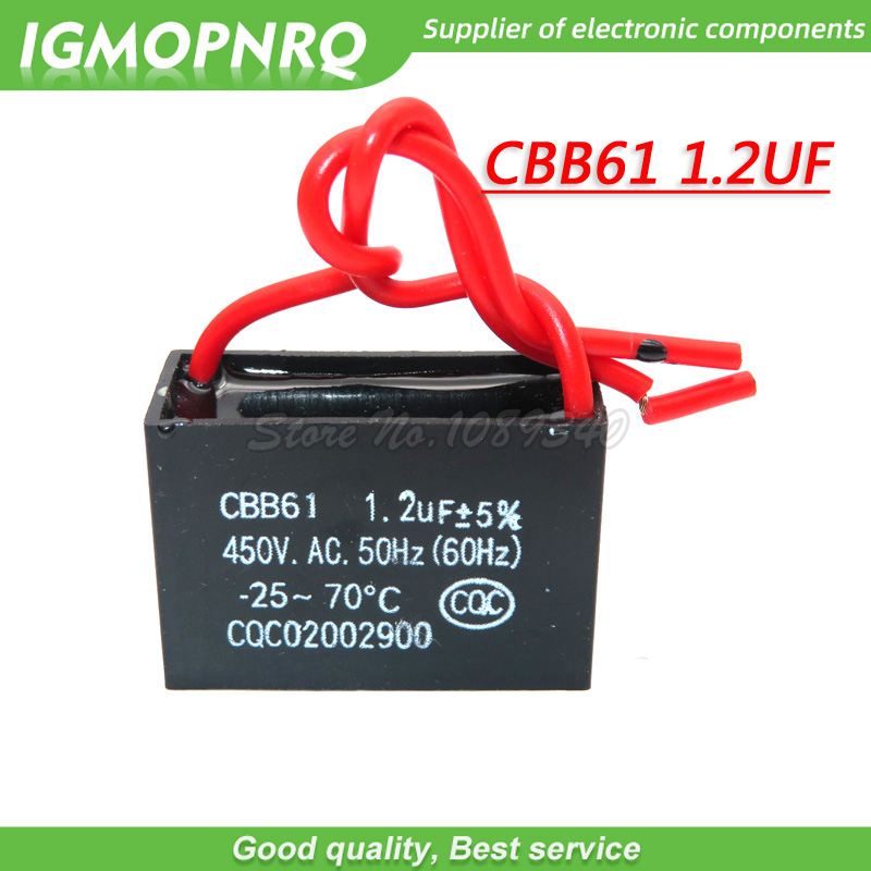 5pcs CBB61 <font><b>1.2uf</b></font> starting capacitance AC Fan <font><b>Capacitor</b></font> 450V CBB <font><b>1.2uf</b></font> Motor Run <font><b>Capacitor</b></font> image