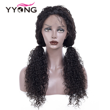 цена на YYONG 12x3 Brazilian Kinky Curly Human Hair Wigs Lace Front Human Hair Wigs Remy Lace Frontal Wig For Black Women With Baby Hair