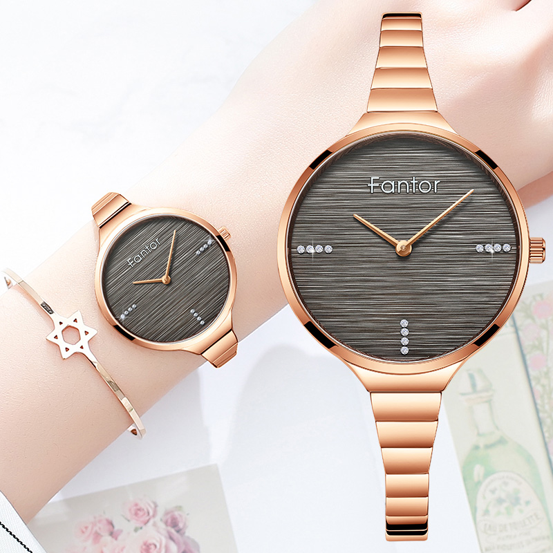 Fantor Small Elegant Watches Women Luxury Brand Wrist Watch Woman Blue Stainless Steel Waterproof Relogio Feminino