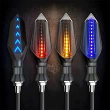 Мотоцикл направленного светодиодный светильник s Поворотная сигнальная лампа Универсальный 12v двухсторонняя направление светильник СИД в...