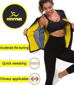 Image 3 - SEXYWG Slimming Body Shaper Fitness Tight Women Neoprene Sauna Suit Waist Trainer Shapewear Zipper Yoga Shirt Long Sleeve Blouse