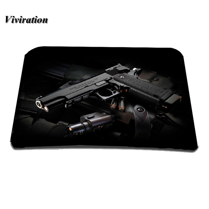 Gun Prints Gaming Mouse Pad Mat Optical Laser Mice Trackball Mouse Anti-Slip Mousepad For Macbook Csgo Overwatch Gamer Mousepad image