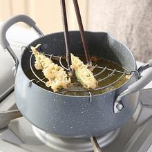 Maifan, каменная фритюрница, темпура, фритюрница, горшок с антипригарным покрытием, с масляным капельным сливом, стойка для дома, кухни, для приготовления пищи