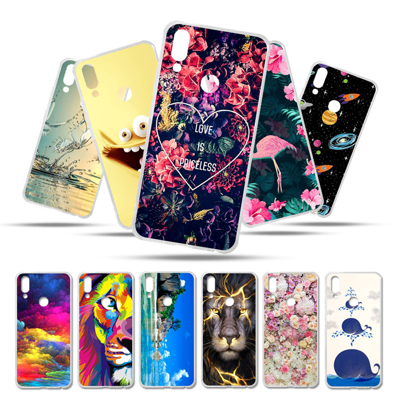 Bolomboy Painted <font><b>Case</b></font> For <font><b>Meizu</b></font> <font><b>M6T</b></font> <font><b>Case</b></font> Silicone Soft <font><b>TPU</b></font> <font><b>Cases</b></font> For <font><b>Meizu</b></font> <font><b>M6T</b></font> Cover Wildflowers Cute Animal Bags 5.7 inch image