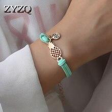 ZYZQ-Pulseras de Estilo coreano simples para mujer, con forma de piña, accesorios de joyería