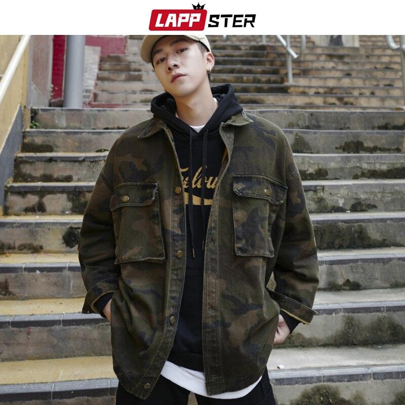 LAPPSTER Men Streetwear Camo Jackets 2020 Mens Korean Pockets Windbreaker Harajuku Male Hip Hop Autumn Camouflage Jackets Coats