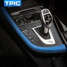 Alcantara شريط لوحة التحكم المركزي ، لاصق ABS ، لسيارات BMW F30 F31 F32 F34 F36 3gt ، ملحقات