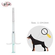 Rfid animal strzykawka NFC wtryskiwacz mikroczipa Ntag216 szklany znacznik do identyfikacji zwierząt system kontroli dostępu 13.56mhz częstotliwość