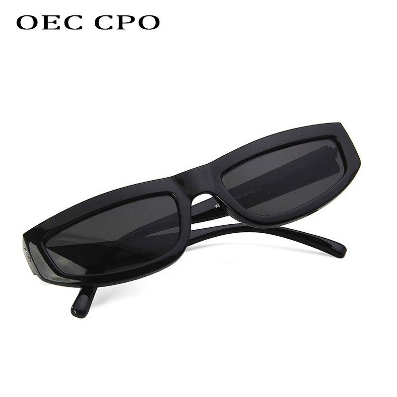 OEC CPO 2019 New Sexy Rectangle Sun Glasses Vintage Small Sunglasses Women Cat Eye SunglassesBrand Designer Cat Eye Glasses Men