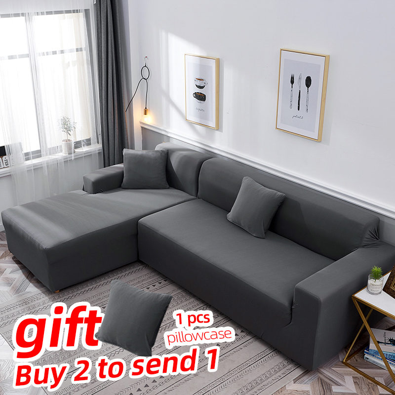 stretch Couch Slipcover sofa covers for living room cubre corner funda sofa chaise cover lounge home Elastic Sofa Cover image