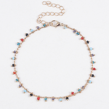 Simple Colorful Beads Anklets for Women Foot Accessories Summer Beach Barefoot Sandals Bracelet ankle on the leg Female Ankle 5